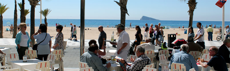 Direkt am Levante-Strand in Benidorm.